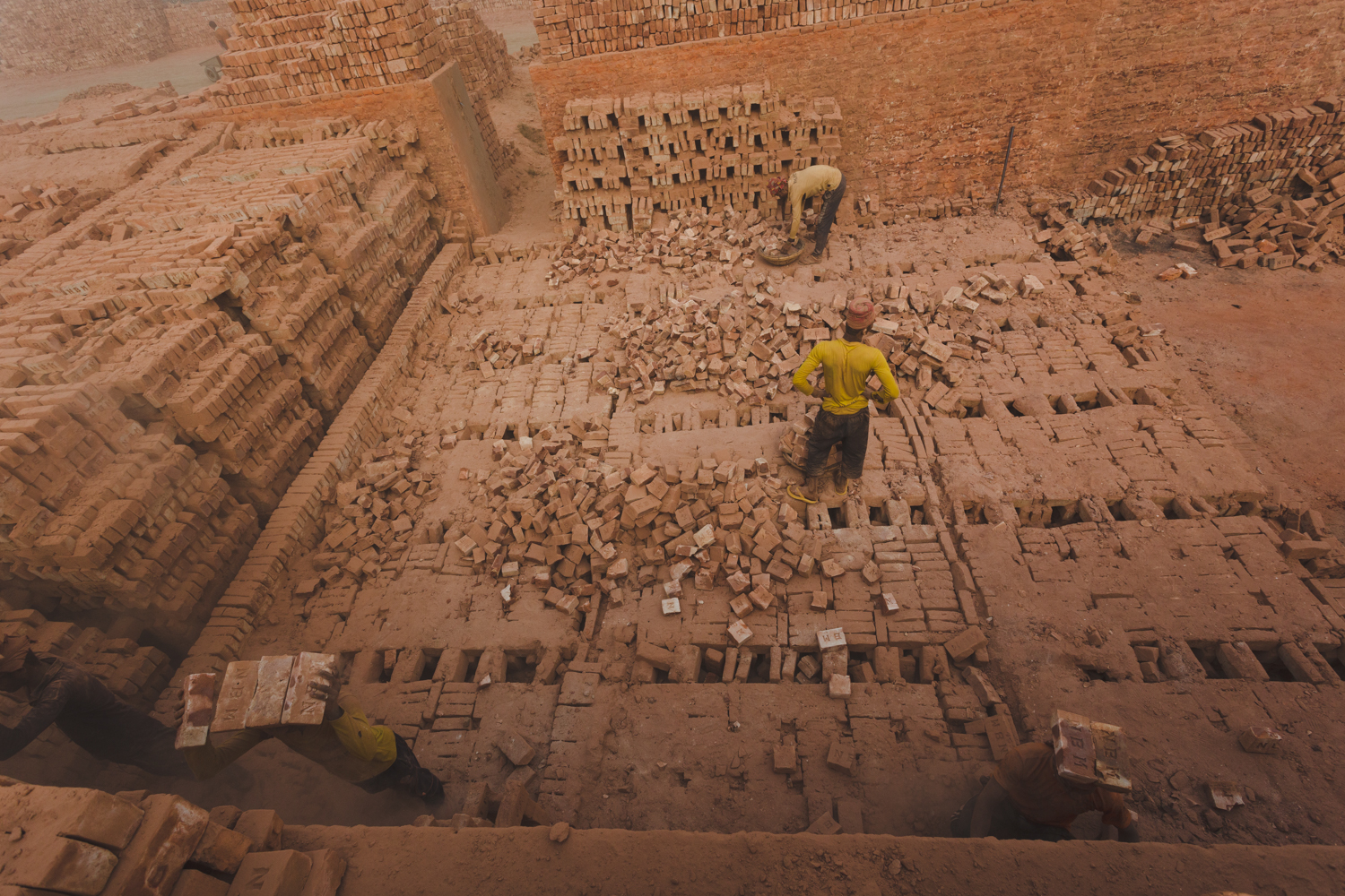 Overwhelming amount of work to be done at the Chittagong, Bangladesh brick facility.