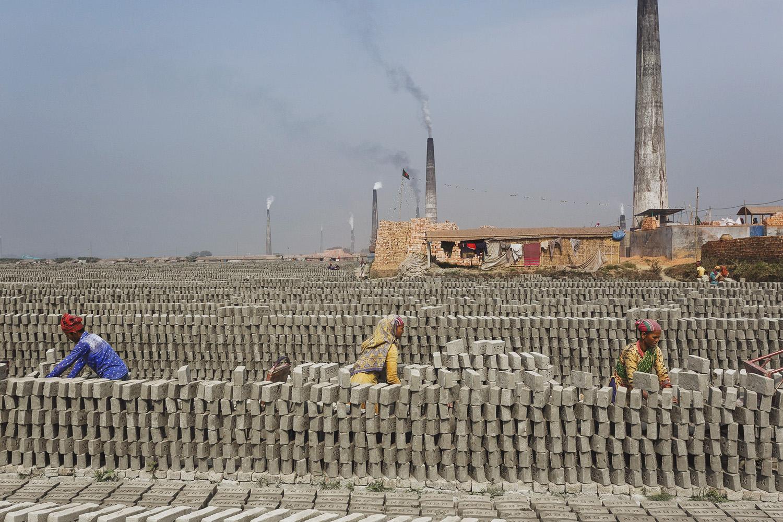 The brick facility in Chittagong, Bangladesh is huge.