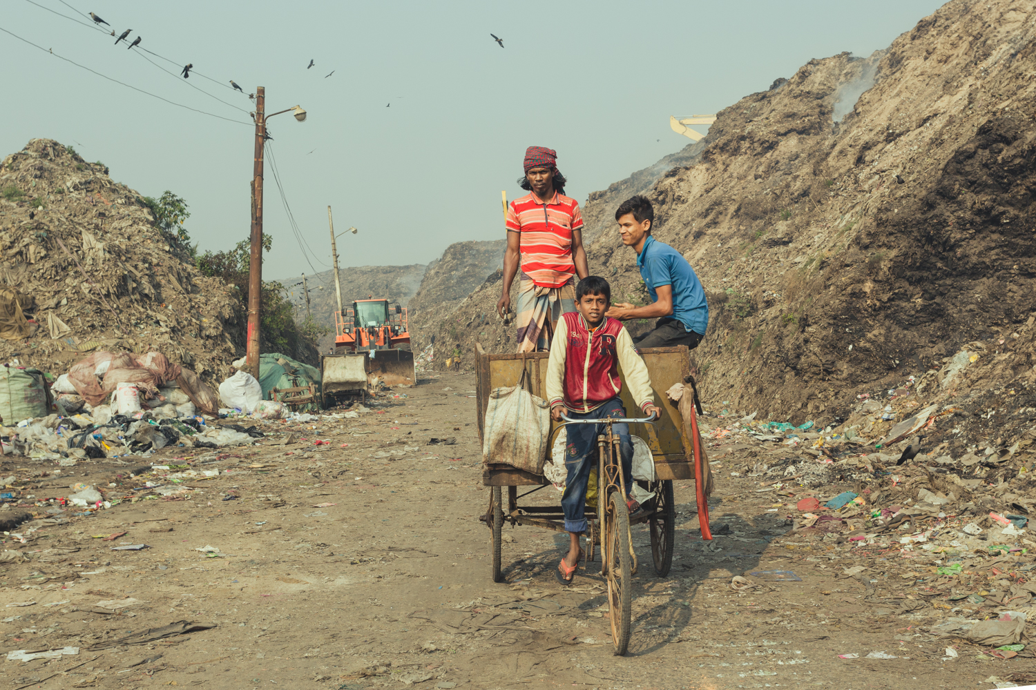 Boys running their own collection in Chittagong, Bangladesh.