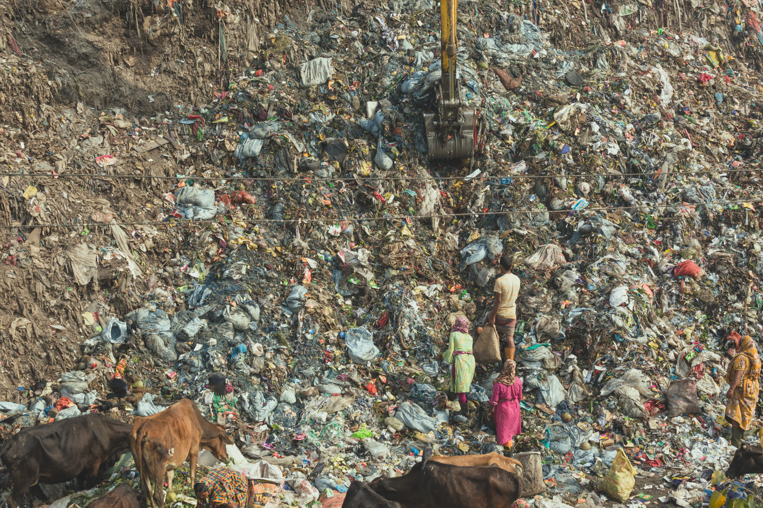 Mountains of rubbish for the Waste Pickers of Chittagong, Bangladesh to search.