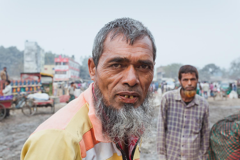 Friendly people at the Dhaka, Bangladesh Vegetable Markets.